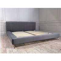 Product photograph showing Coates Super King Bed Frame In Velvet Silver