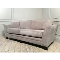 Product photograph showing Hardy Standard Back 3 Seater In Sherlock Nickel