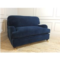 Product photograph showing Helston Loveseat Sofa Bed In Royal Blue