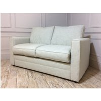 Product photograph showing Bromley 2 Seater Fabric Sofa Bed In Washed Linen Sea Spray