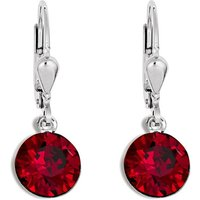 Coeur De Lion Deep Red Crystal Earrings, Stainless Steel - Lion Gifts