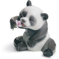 Lladro Animals A Cheerful Panda - Panda Gifts
