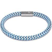 Coeur De Lion Blue & Silver Metal Braided Bracelet | 0116/31-0717 - Lion Gifts