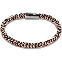 Coeur De Lion Rose Gold & Black Metal Braided Bracelet | 0116/31-1630 - Lion Gifts