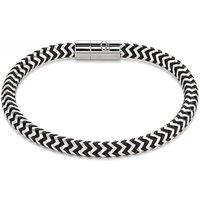 Coeur De Lion Silver & Black Metal Braided Bracelet | 0116/31-1713 - Lion Gifts