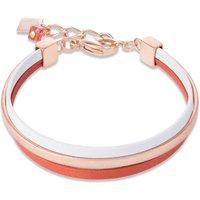 Coeur De Lion Nappa Orange & White Bracelet | 0221/30-0214 - Fashion Gifts
