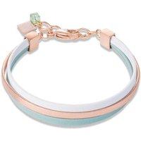 Coeur De Lion Nappa Green & White Bracelet | 0221/30-0514 - Fashion Gifts