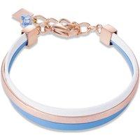 Coeur De Lion Nappa Rose Gold & Blue Bracelet | 0221/30-0714 - Fashion Gifts