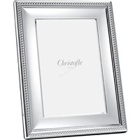 Christofle Perles Silver Plate Picture Frame, 10cm x 15cm - Picture Gifts