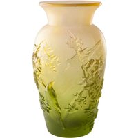 Daum Green Summer Vase