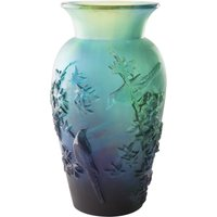 Daum Blue Winter Vase