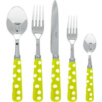 Sabre White Dots Light Green 5 Piece Cutlery Set - Cutlery Set Gifts