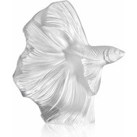 Lalique Fighting Fish Small Clear Sculpture - Fighting Gifts