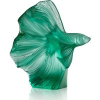 Lalique Fighting Fish Small Mint Green Sculpture | 10672600 - Fighting Gifts