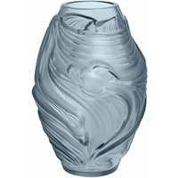Lalique Small Poissons Combattants Vase, Persepolis Blue - David Shuttle Gifts