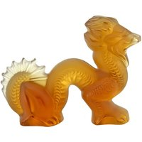 Lalique Amber Small Dragon | 1214100 - Politics Gifts