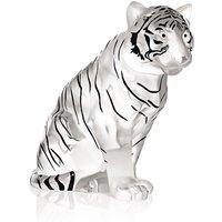 Lalique Black Enamel Sitting Tiger, Numbered Edition | 1219810 - Tiger Gifts