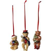 Villeroy & Boch Nostalgic Ornaments Christmas Teddy Bears, Set of 3 | 1483316667 - Ornaments Gifts