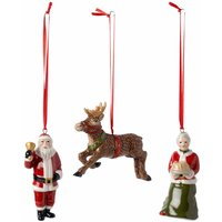 Villeroy & Boch Nostalgic Ornaments North Pole Express Ornament Set of 3 - Ornaments Gifts