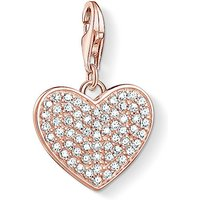 Thomas Sabo Charm Club Sparkly Rose Gold Heart Charm Pendant | 1569-416-14 - Sparkly Gifts