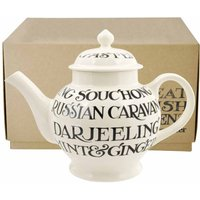 Emma Bridgewater Black Toast All Over 4 Mug Teapot (Boxed)