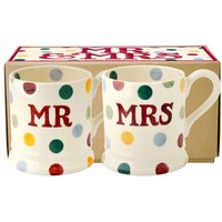 Emma Bridgewater Polka Dot 'Mr & Mrs' Set of 2 1/2 Pint Mugs (Boxed) - Polka Dot Gifts