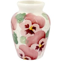 Emma Bridgewater Pink Pansy Row Mustard Vase | 1PPN021602 - David Shuttle Gifts