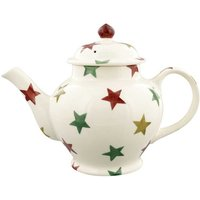 Emma Bridgewater Red Green and Gold Star 3 Mug Teapot