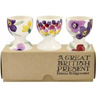 Emma Bridgewater Wallflower Set of 3 Egg Cups (Boxed) - Cups Gifts