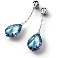 Baccarat Fleurs De Psydelic Aqua Mirror Earrings | 2608368