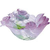 Daum Roses Pink Shallow Dish - Pink Gifts