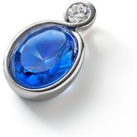 Baccarat Croise Silver & Blue Crystal Pendant   2812947