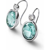 Baccarat Croise Wire Silver and Turquoise Crystal Earrings