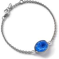 Baccarat Croise Chain Silver & Blue Crystal Bracelet   2812965