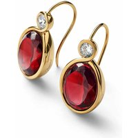 Baccarat Croise Wire Red Vermeil Earrings