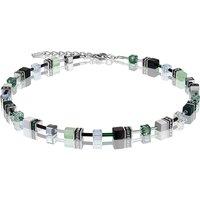 Coeur De Lion Geo Cube Green Pastel Necklace | 2838/10-0536 - Lion Gifts