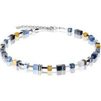 Coeur De Lion Geo Cube Blue & Yellow Necklace | 2838/10-0701 - Fashion Gifts