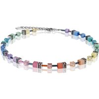 Coeur De Lion Geo Cube Soft Multicoloured Necklace, Stainless Steel - Lion Gifts
