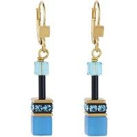 Coeur De Lion Geo Cube Multicolour Rainbow Gold Pierced Earrings   2838/20-1573