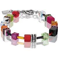 Coeur De Lion Geo Cube Multicoloured Garden Bracelet | 2838/30-1553 - Lion Gifts