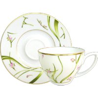 Haviland Amaryllis Espresso Cup & Saucer - Martini Gifts