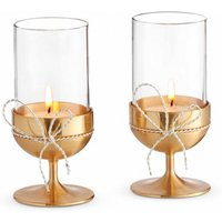 Vera Wang Love Knots Gold Tealight Holder (Set Of 2) | 40015396 - Animals Gifts