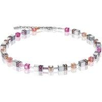 Coeur De Lion Geo Cube Peach Rose Necklace | 4015/10-0227 - Fashion Gifts
