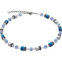 Coeur De Lion Geo Cube Tempest Blue Necklace | 4015/10-0700 - Lion Gifts