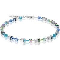 Coeur De Lion Geo Cube Blue & Green Necklace | 4015/10-0705 - Fashion Gifts