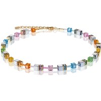 Coeur De Lion Geo Cube Muliticolour Pastel Necklace | 4015/10-1522 - Fashion Gifts