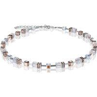 Coeur De Lion Geo Cube Rose Gold Necklace | 4015/10-1822 - Fashion Gifts