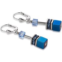 Coeur De Lion Geo Cube Tempest Blue Earrings | 4015/20-0700 - Lion Gifts