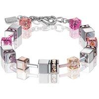 Coeur De Lion Geo Cube Peach Rose Bracelet | 4015/30-0227 - Fashion Gifts