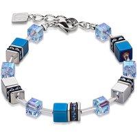 Coeur De Lion Geo Cube Tempest Blue Bracelet | 4015/30-0700 - Lion Gifts